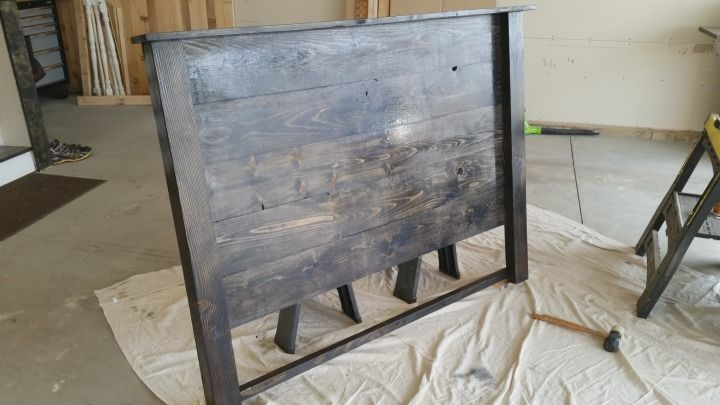 DIY queen size wood headboard for under $35