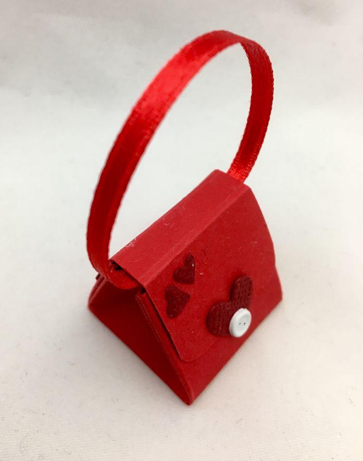 Mini purse for one Hershey kiss. 3,3 x 3,3 inch.
