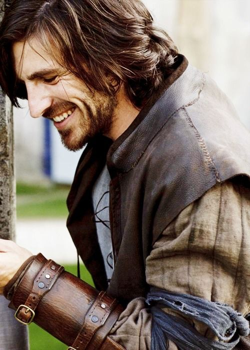Eoin Macken is Gwaine, the most attractive of Arthur's knights now that Lancelot is out of the picture.