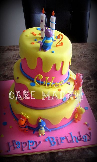 Backyardigans cake by Cake Madam, via Flickr
