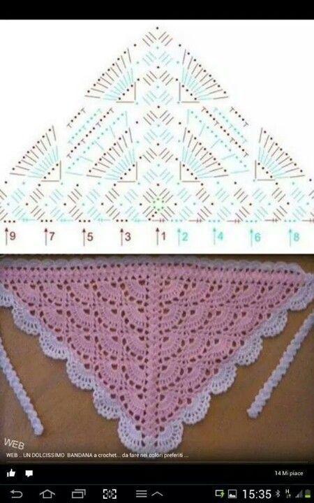M - Salvabrani | lectura d patrones | Pinterest | Chal, Ganchillo y ...
