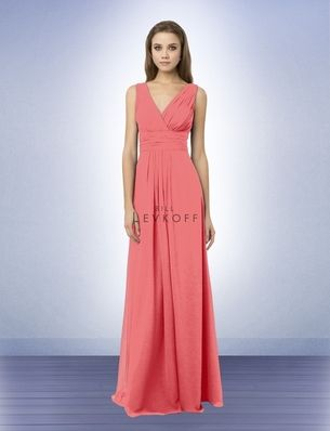 Bridesmaid Dress Style 768 - Bridesmaid Dresses by Bill Levkoff. Same colors as David's, look into the Coral/Cornflower combo for lighter colors