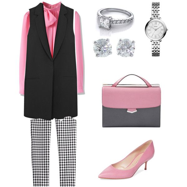 Untitled #1 by polymaven-579 on Polyvore featuring polyvore fashion style Chicwish Elizabeth and James Diane Von Furstenberg Casadei Fendi FOSSIL Tiffany & Co.