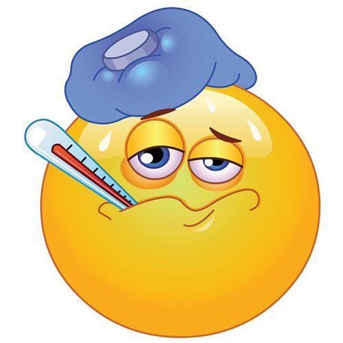 Emoticono enfermo: ¿Con la gripe? Este es el dibujo con el que informamos a nuestros amigos que estamos enfermos.