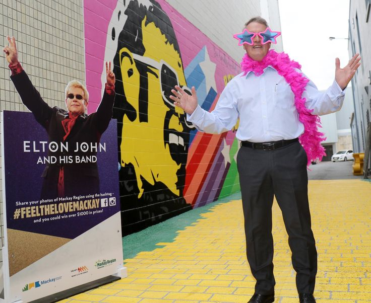 Walk like a pop star past the Yellow Brick Road, an Elton-inspired mural created as a legacy to the icon in the City Centre, at 4th Lane Visit www.mackaycitycentre.com.au for all the latest details