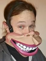 Big Mouth Ventriloquist Mask, Cable controlled mask, talking mask, comedy mask.
