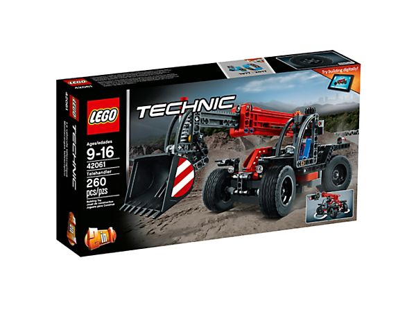 Amayel: Lift heavy loads high into the air with this versatile 2-in-1 LEGO® Technic Telehandler, including an extendable boom, tipping bucket, four-wheel steering and heavy-duty tires.