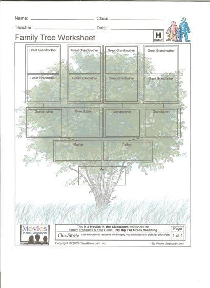 Printables Genealogy Worksheets family tree worksheet trees and worksheets on pinterest