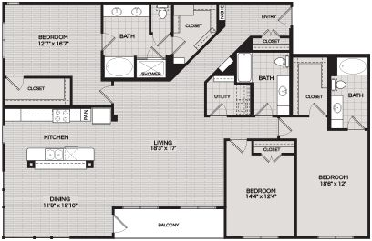 Floorplans C3 3 BEDROOM 3 BATH