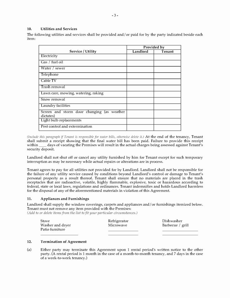 Weekly Rental Agreement Template Lovely Michigan Rental