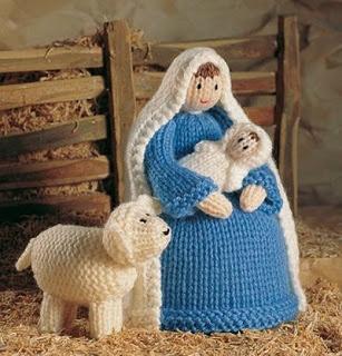 Amigurumi de la Virgen María Crochet Navidad