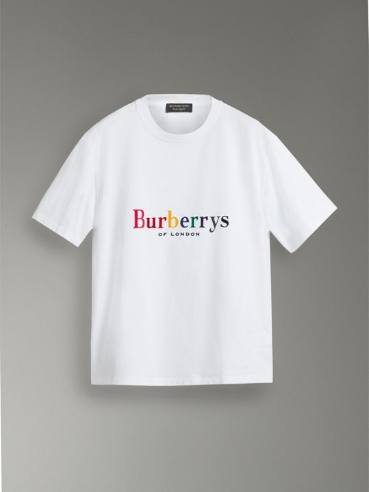 7273834fc053 Reissued Cotton T-shirt in White - Men | Burberry United Kingdom - cell  image 3