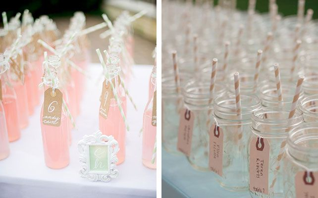 Как сделать бирки для декора лимонада на свадьбе