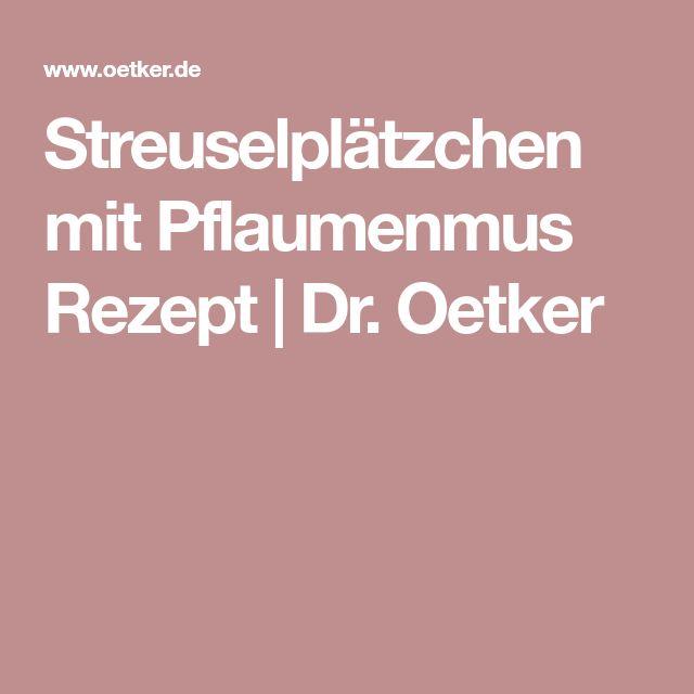 Streuselplätzchen mit Pflaumenmus Rezept | Dr. Oetker