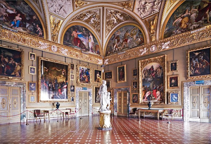 Palazzo Pitti (Pitti Palace) the Medici home in Florence, Italy