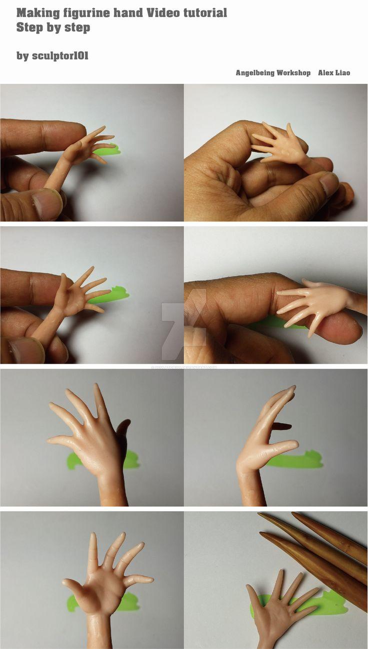 Making figurine hand Video tutorial by sculptor101.deviantart.com on @DeviantArt