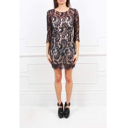 Lover - Serpent Fitted Lace Dress