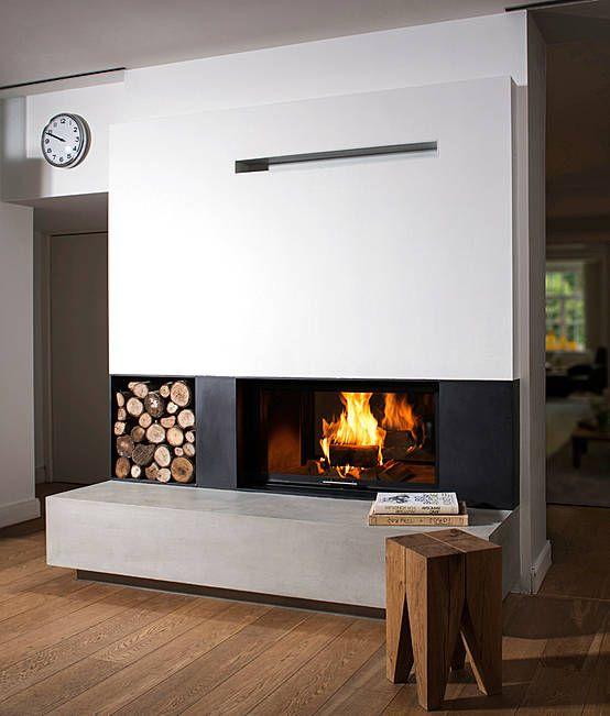 Feuer trifft Stahl: Tunnelkamin im Architekturformat mit beidseitigen Stahleinfassungen.