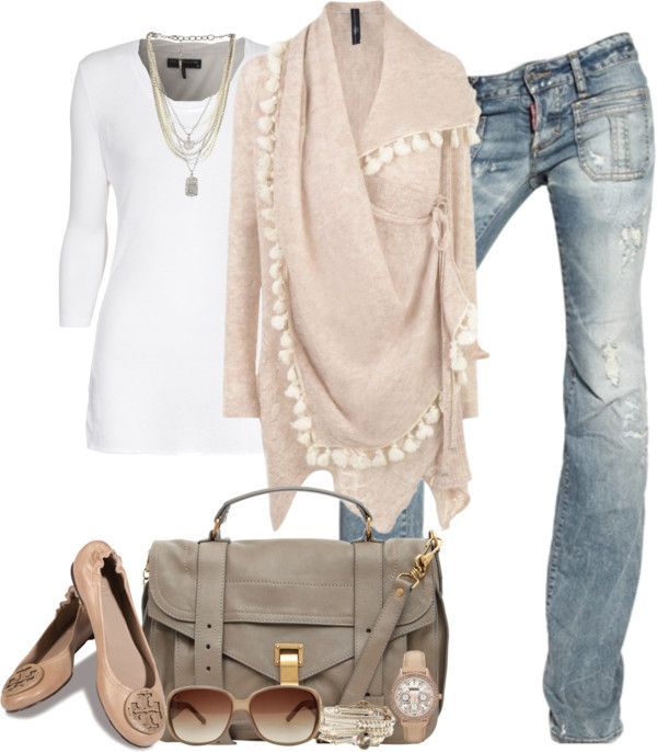 Casual fall: Shoes, Cardigans, Wraps Sweaters, Style, Casual Fall Outfits, Color, Cute Outfits, Casual Outfits, Pom Pom