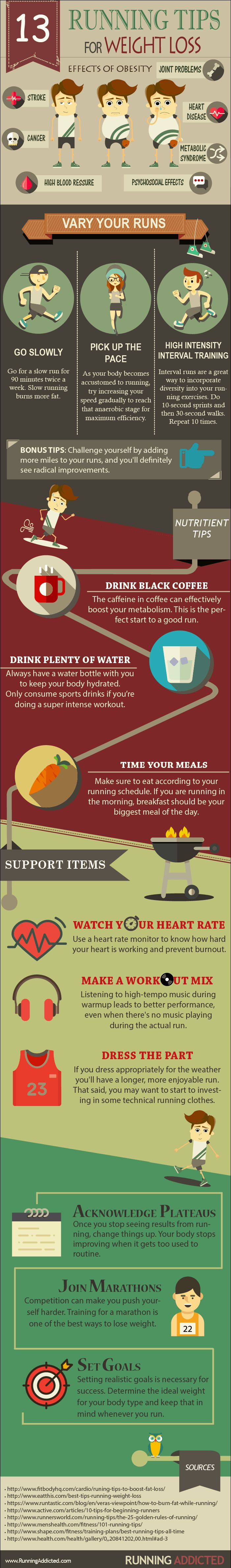 13 Running Tips For Weight Loss #Infographic #Health #WeightLoss
