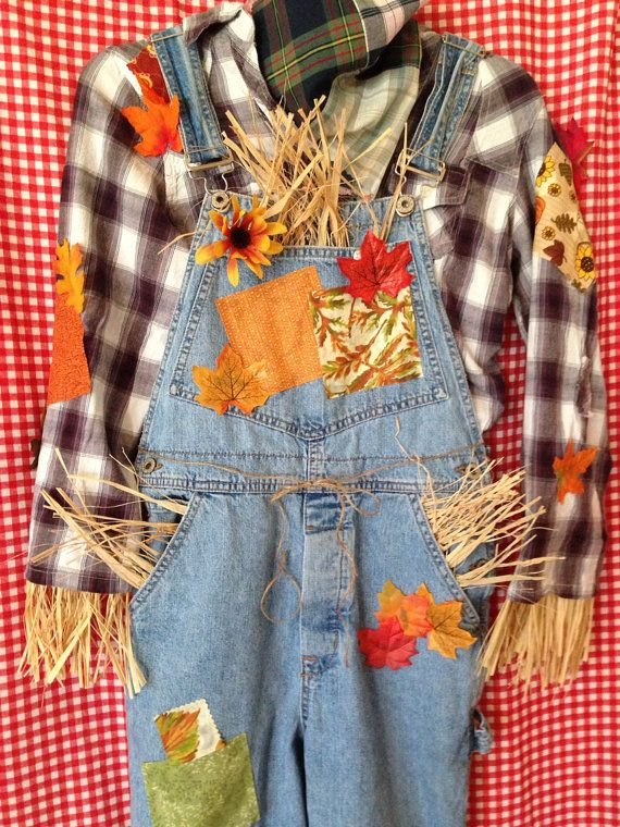 Idea for DIY scarecrow costume:  Women's Medium Adult Scarecrow Costume with by IfIOnlyHadABrane, $55.00