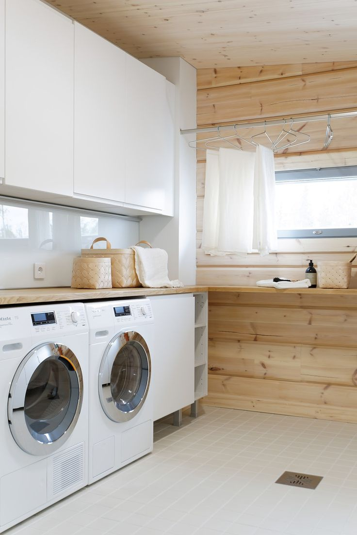 Classic, Clean and Swedish - 50 Ways To Make Your Laundry Room POP |  http://homebnc.com/best-laundry-room-ideas/2/ | #laundry #room #laundryroom #decor #decoration #idea #ideas #makeover #home #homedecor #lifestyle #makeover #beautiful #creative #furniture #modern #design #homebnc