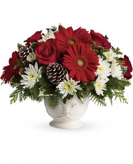 Teleflora's Simply Merry #Centerpiece #flowers