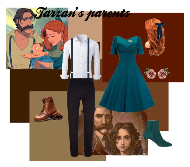 """Tarzan's Parents"" by marvelfan522 ❤ liked on Polyvore featuring Tagliatore, Stephan Schneider, Jennifer Behr, Jimmy Choo and Dolce&Gabbana"