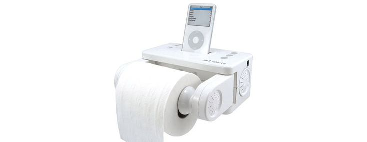 iCarta - iPod Dock / Toilet Paper Holder