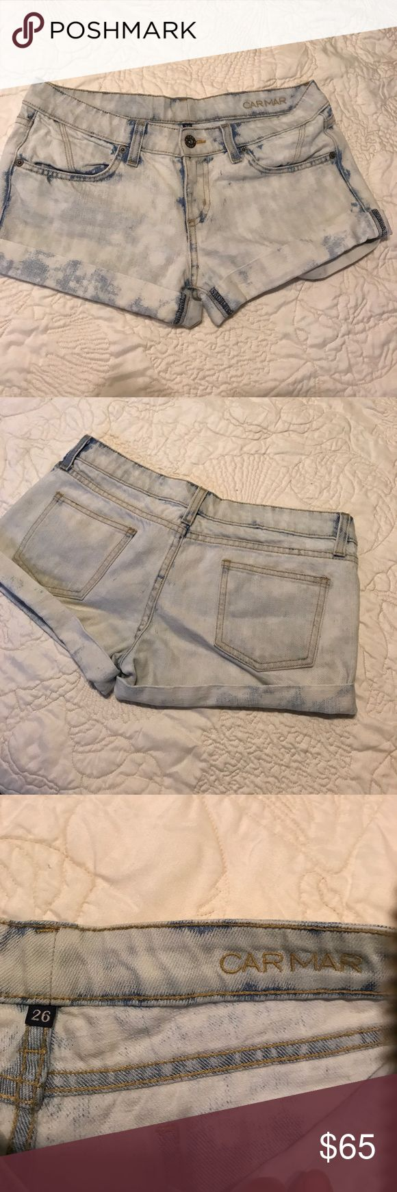 CARMAR acid wash shorts Worn once. Perfect condition, i love them but they don't fit me anymore Carmar Shorts