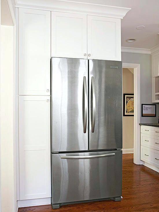 kitchen cabinets refrigerator surround tall wood panels ikea cabinet panel & kitchen cabinets refrigerator surround tall wood panels ikea cabinet ...