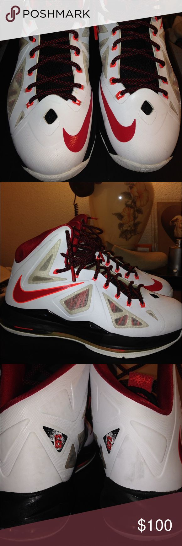 Lebron 10 Home Edition Good Condition Plus They Are 4 Years Old Nike Shoes Sneakers