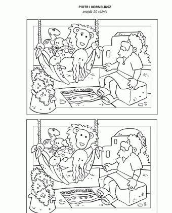 Piotr i Korneliusz – znajdź różnice – Moja Biblia