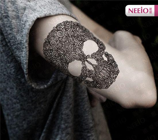 Goedkope ANI098 neeio tijdelijke tattoo grote punk mexico suiker schedel tattoo sticker borst arm tatoeages waterdichte body art henna tattoo, koop Kwaliteit tijdelijke tatoeages rechtstreeks van Leveranciers van China: beschrijvingStaat: 100 % gloednieuwe.Grootte: 12 cm x 18 cm  Pakket inbegrepen:2 x tattoo stickers  Kleur: a