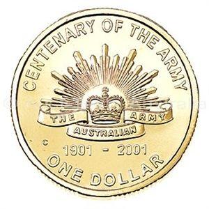 Aust-Tech, Australia. 2001 $1 Uncirculated Coin - Centenary of the Australian Army