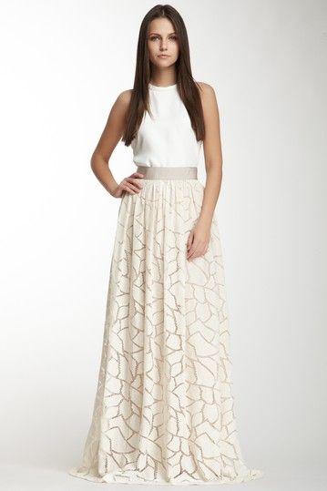 Yigal Azrouel Long Lace Skirt on HauteLook