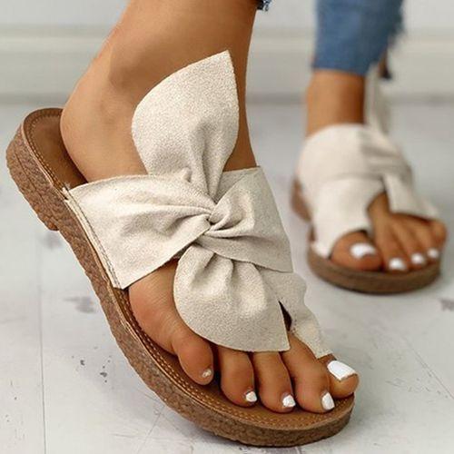 Frauen Sandalen Flache Schuhe Flascher Absatz Stoff Des Bowknot Floryday Women Casual Flats Sandals Heels Gold Sandals Heels