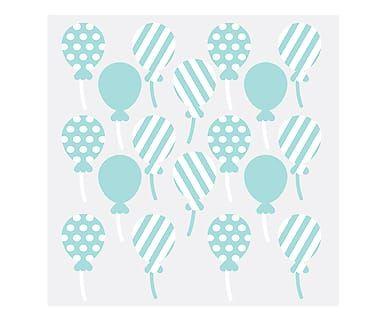 Adesivo de Parede Balões Azuis - 50X37cm