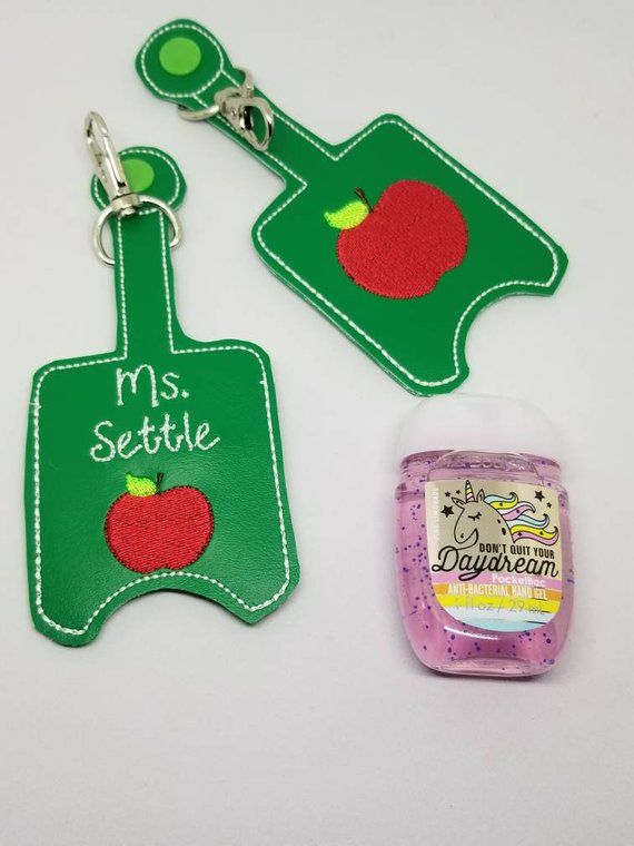 Apple Teacher Appreciation Gift Hand Sanitizer Holder Includes