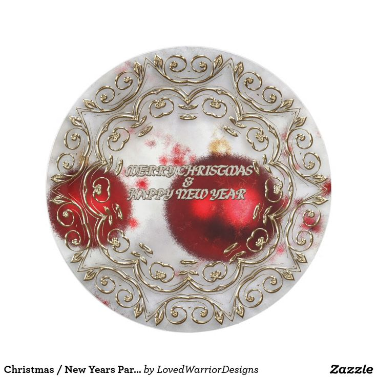 Christmas / New Years Party Plates