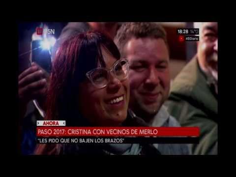 Cristina Kirchner en un acto en Merlo - YouTube