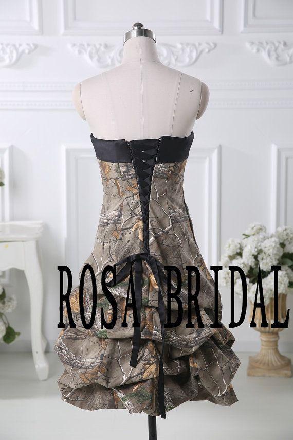 Camo bridesmaid dress Camouflage wedding dress Camo by rosabridal