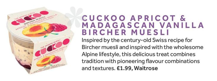 If you're looking for a meat-free marvel, look no further than @CuckooFoods Bircher Muesli as seen in @VeggieMagazine