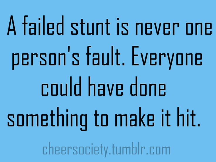 This is absolutely true. Even if you hit it 5000 times in practice, its that one stunt in front of the crowd that means something. The crowd doesn't know that we hit in practice, they just know we fell when we got in front of them. No matter how many times you fall you have to stand up one more time.
