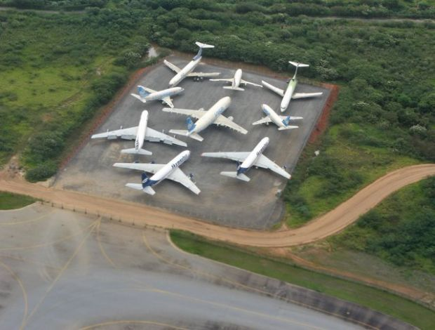 Brazil, the parking of aircraft not used near the São Paulo-Guarulhos