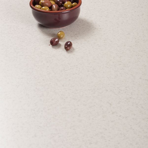 This Glacial Storm laminate worktop from Duropal is a white stone-effect surface that's an excellent choice in any style of kitchen. Read more about them here: http://www.worktop-express.co.uk/laminate-worktops/duropal-worktops-glacial-storm
