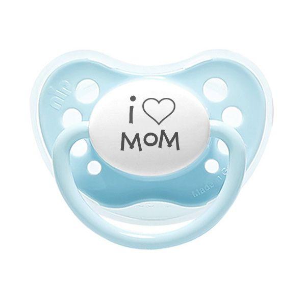 I Love Mom, Blue pacifier.