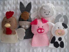 Felt finger puppet ideas: domestic animals, donkey