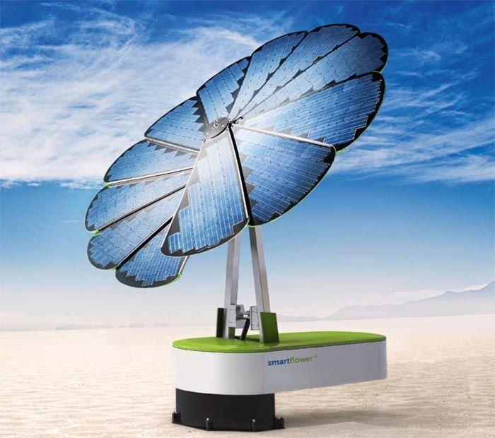 Smartflower: primera placa solar totalmente portátil.