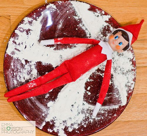 Elf on the shelf ideas | Snow Angels!